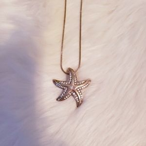 Unique Rose Gold Starfish Necklace